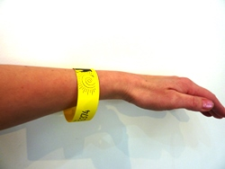XE Vivid Yellow Digital Waterproof Wristbands 10 up on A4 120 micron (160gsm)  - Box 100 sheets