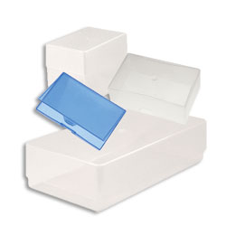 Business Card Boxes Clear PP 95 x 60 x 70mm Double Depth - Pack 125