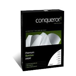 Conqueror Bamboo Natural White Paper Watermarked FSC A4 100gsm - Box 5 Reams
