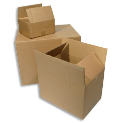 "Single Wall Corrugated Cardboard Box 305x229x78mm (12x9x3"") - Pack 25"