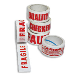 Prismatape Polypropylene Tape Printed 'FRAGILE HANDLE WITH CARE' 48mm x 66mtrs - Box 36 Rolls