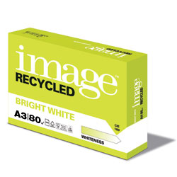 Image Recycled Bright White 100% Recycled Paper FSC A3 80gsm - Box 5 Reams