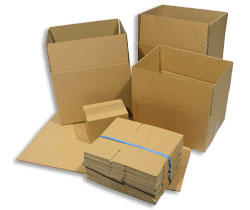 "Double Wall Corrugated Cardboard Box 254x254x254mm (10x10x10"") - Pack 15"