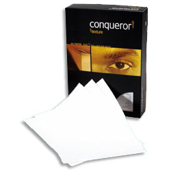 Conqueror Texture Laid Paper High White Watermarked FSC A4 100gsm - Each Ream